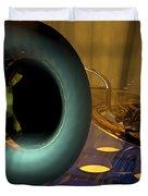 Tuba Goes Disco Duvet Cover