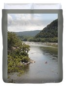 Tubing On The Potomac River At Harpers Ferry Duvet Cover