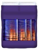 Tubular Sunset Duvet Cover