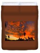 Tucson Arizona Sunrise Fire In The Sky Duvet Cover