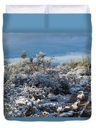 Tucson Covered In Snow Duvet Cover