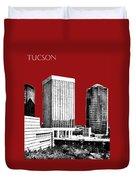 Tucson Skyline 1 - Dark Red Duvet Cover