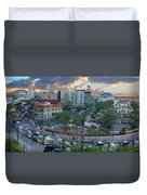 Tucson Streetcar Sunset Duvet Cover