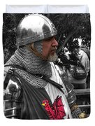 Tudor Knight In Armor  V1 Duvet Cover