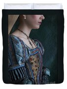 Tudor Woman In Profile Duvet Cover