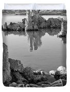 Tufa In Black And White Duvet Cover