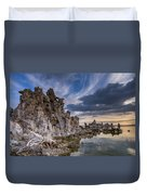 Tufas And Clouds Duvet Cover