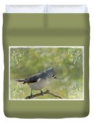 Tufted Titmouse With Decorations II Duvet Cover