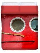 Tug Boat Eyes Duvet Cover