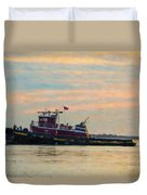 Tug Boat Hard At Work Duvet Cover