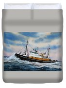 Tugboat Island Commander Duvet Cover