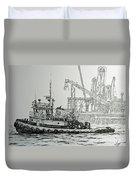 Tugboat Martha Foss Duvet Cover
