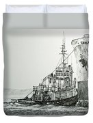 Tugboat Richard Foss Duvet Cover