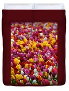 Tulip Bud Farm Portrait Duvet Cover