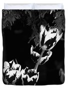 Tulip Group In Black And White Duvet Cover