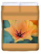 Tulip In Orange Duvet Cover
