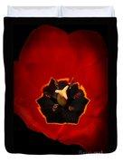 Tulip On Black Duvet Cover