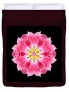 Tulip Peach Blossom IIi Flower Mandala Duvet Cover