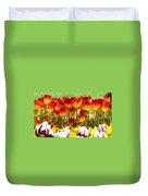 Tulip Stand In Mount Vernon Washington Duvet Cover
