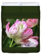 Tulip Time Pink And White Duvet Cover