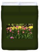 Tulip Time Pink Yellow Black Beauty Duvet Cover