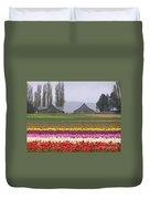 Tulip Town Barns Duvet Cover