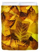 Tulip Tree Leaves In Autumn Duvet Cover