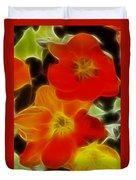 Tulips-6681-fractal Duvet Cover