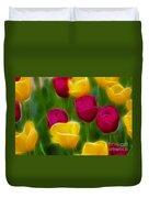 Tulips-6768-fractal Duvet Cover