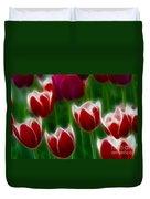 Tulips-6823-fractal Duvet Cover