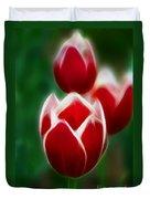 Tulips-6835-fractal Duvet Cover