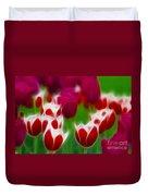 Tulips-6848-fractal Duvet Cover