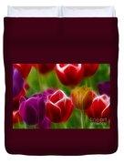 Tulips-7022-fractal Duvet Cover