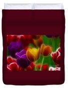 Tulips-7060-fractal Duvet Cover