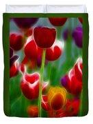 Tulips-7069-fractal Duvet Cover