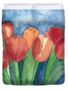 Tulips After The Rain Duvet Cover