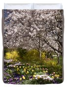 Tulips And Other Spring Flowers At Dallas Arboretum Duvet Cover