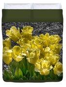 Tulips At Dallas Arboretum V23 Duvet Cover
