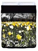 Tulips At Dallas Arboretum V26 Duvet Cover