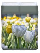Tulips At Dallas Arboretum V28 Duvet Cover