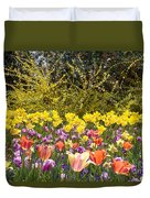 Tulips At Dallas Arboretum V32 Duvet Cover