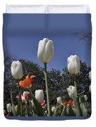 Tulips At Dallas Arboretum V36 Duvet Cover