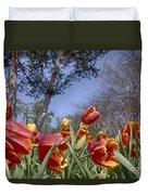 Tulips At Dallas Arboretum V37 Duvet Cover