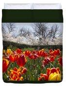 Tulips At Dallas Arboretum V39 Duvet Cover