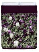 Tulips At Dallas Arboretum V43 Duvet Cover
