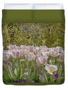 Tulips At Dallas Arboretum V45 Duvet Cover