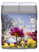 Tulips At Dallas Arboretum V46 Duvet Cover