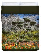 Tulips At Dallas Arboretum V49 Duvet Cover