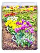 Tulips At Dallas Arboretum V65 Duvet Cover