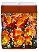 Tulips At Dallas Arboretum V80 Duvet Cover